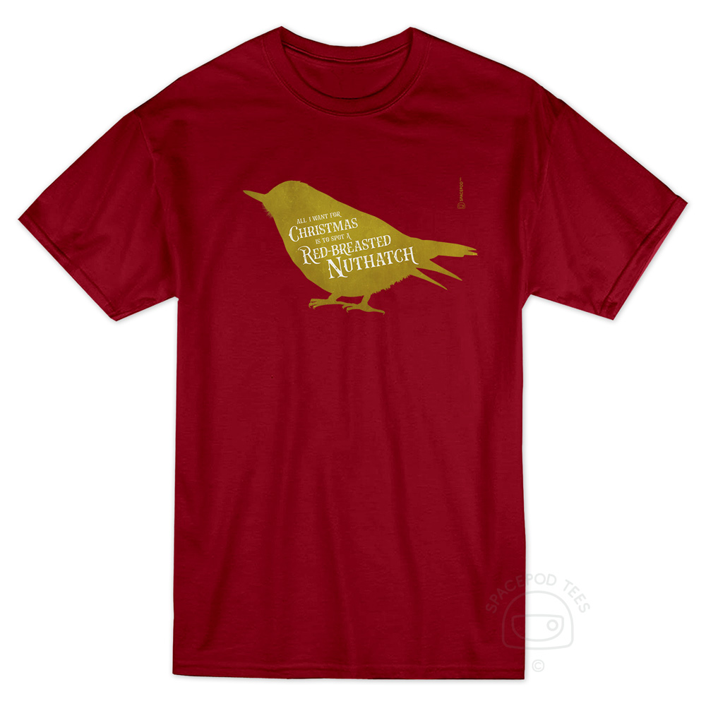 christmas-red-breasted-nuthatch-tshirt