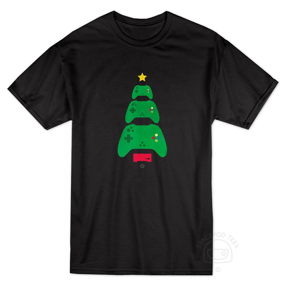 gaming-controller-christmas-tree-tshirt