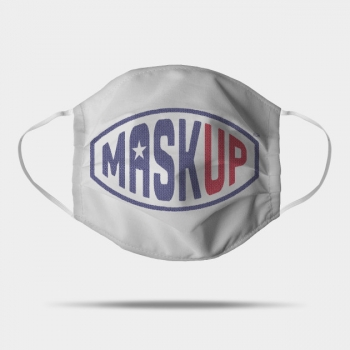 Mask Up Face Mask in Flag colours with single star